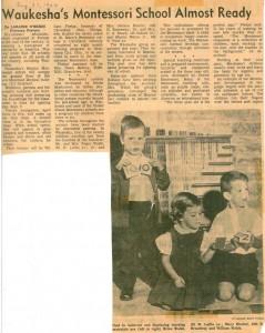 Montessori School of Waukesha in 1963 by The Waukesha Freeman