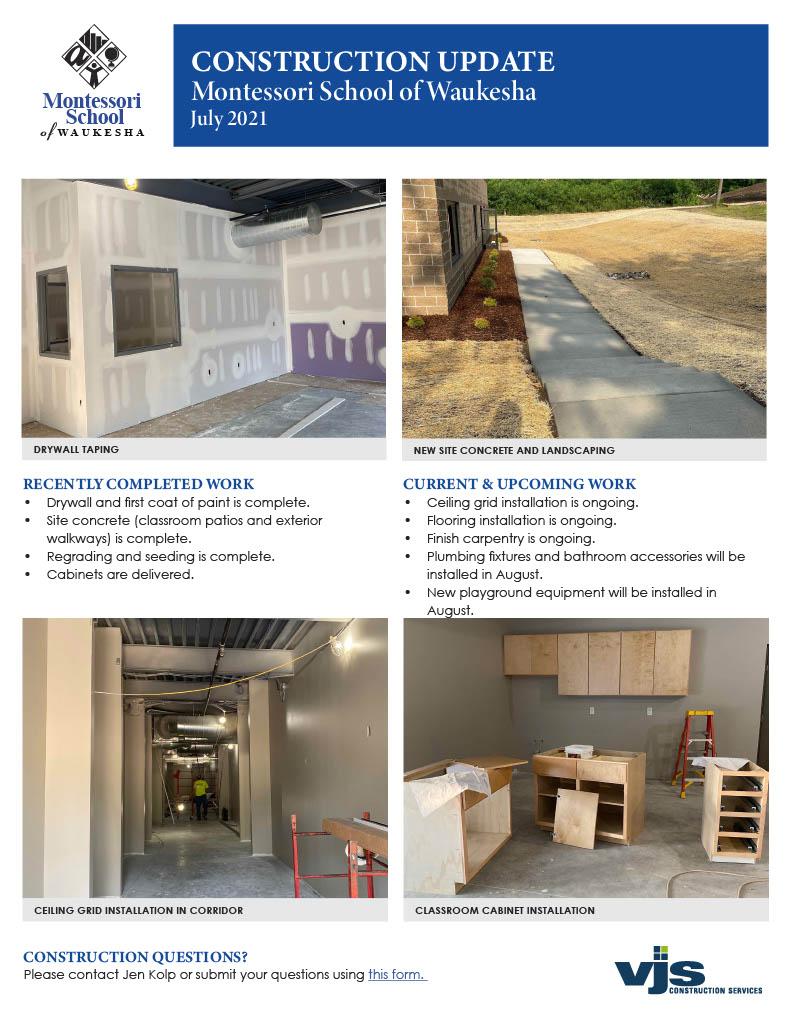 Montessori School Construction Update July1024_1